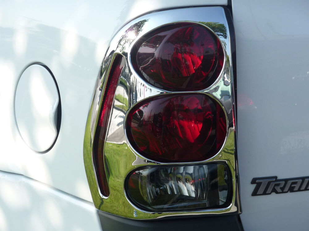 Details About Chevrolet Trailblazer 2002 2009 Tfp Abs Chrome Tail Light Cover Insert