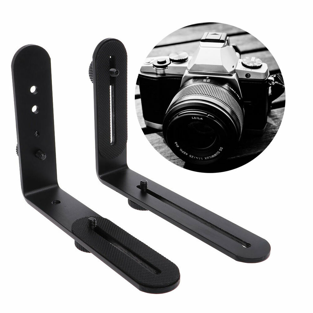 Photography Flash Brackets: Double L-shaped Metal Dual Bracket/Holder Mount For Canon