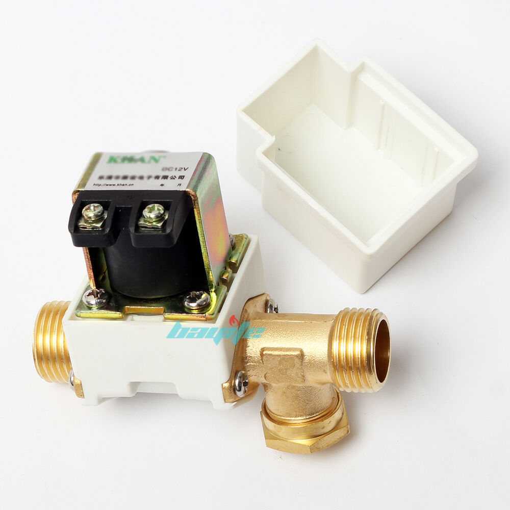 12v dc electric solenoid valve water air outside 1 2 brass normally closed n c ebay. Black Bedroom Furniture Sets. Home Design Ideas