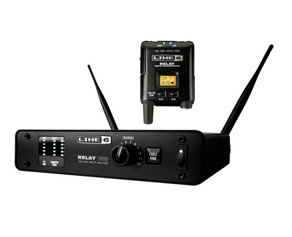 new line 6 relay g55 digital guitar wireless transmitter receiver system ebay. Black Bedroom Furniture Sets. Home Design Ideas