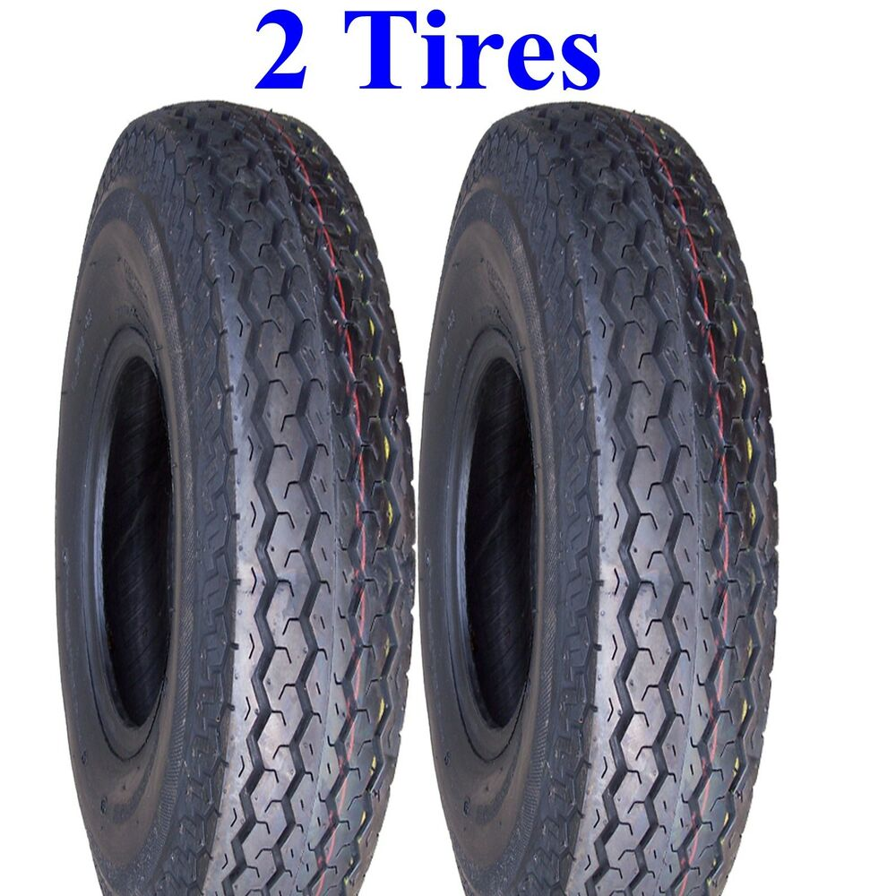 TWO Trailer TIRES 4.80-12 480-12 480x12 4.80x12 Boat