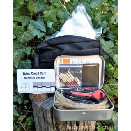 img-Beginners Fire steel and Tinder kit for Bushcraft, Survival, Pioneers, Scout....
