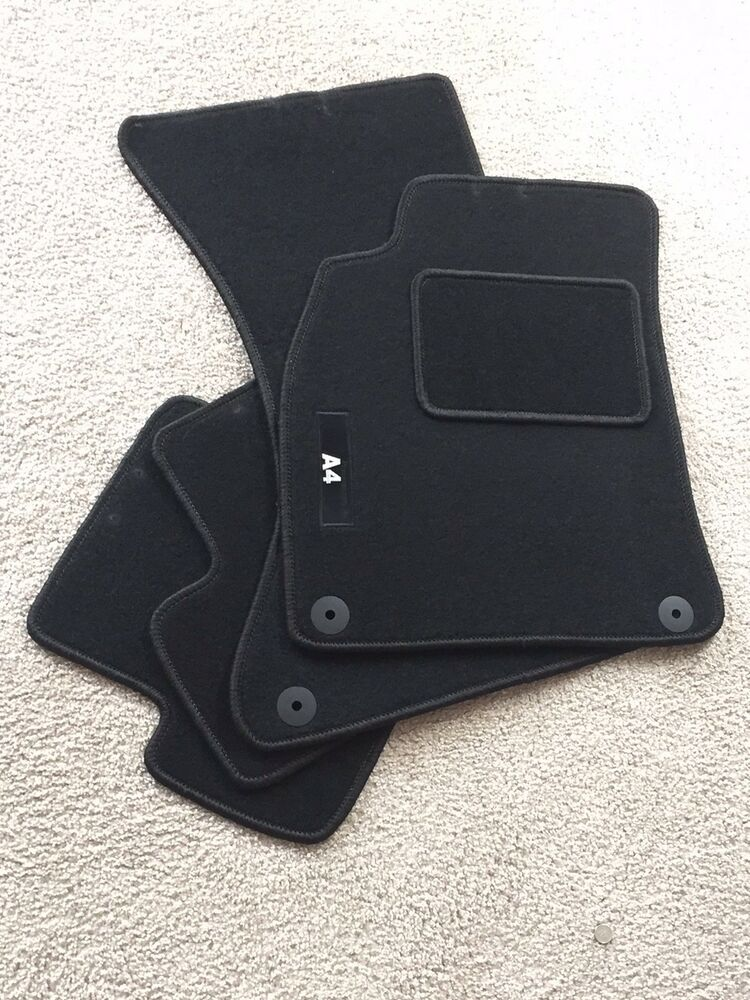 audi a4 b8 carpet floor mats set black ebay. Black Bedroom Furniture Sets. Home Design Ideas