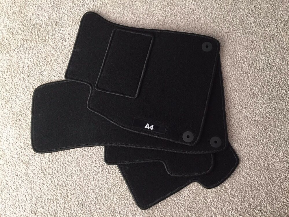 audi a4 2004 2007 carpet floor mats set black ebay. Black Bedroom Furniture Sets. Home Design Ideas