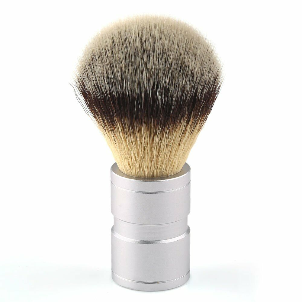 Men's Silvertip Badger hair Shaving Brush Stainless Metal Handle Barber Tool | eBay