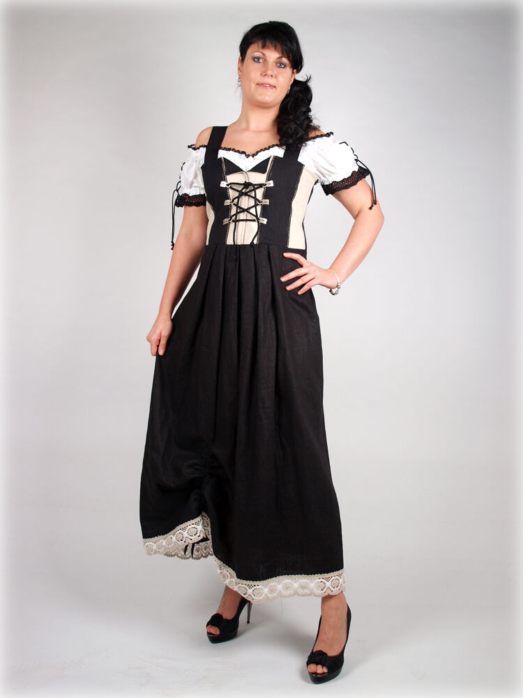 massanfertigung dirndl tracht kira schwarz gr 50 52 54 56 58 60 62 64 ebay. Black Bedroom Furniture Sets. Home Design Ideas
