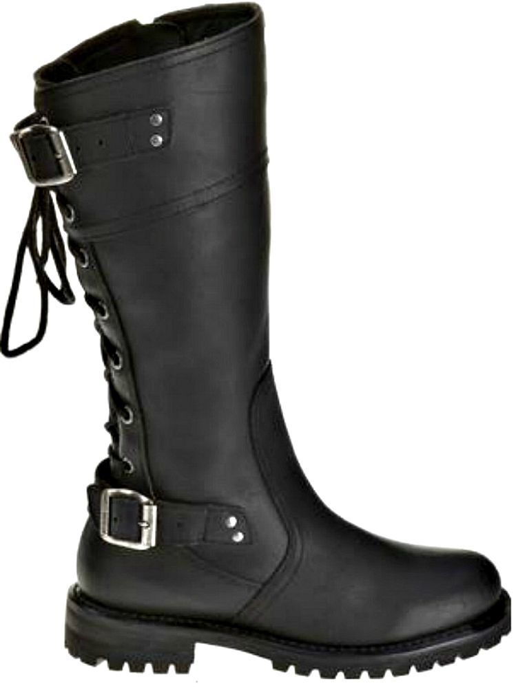 new harley davidson women 39 s alexa lace up black leather motorcycle boots d85167 ebay