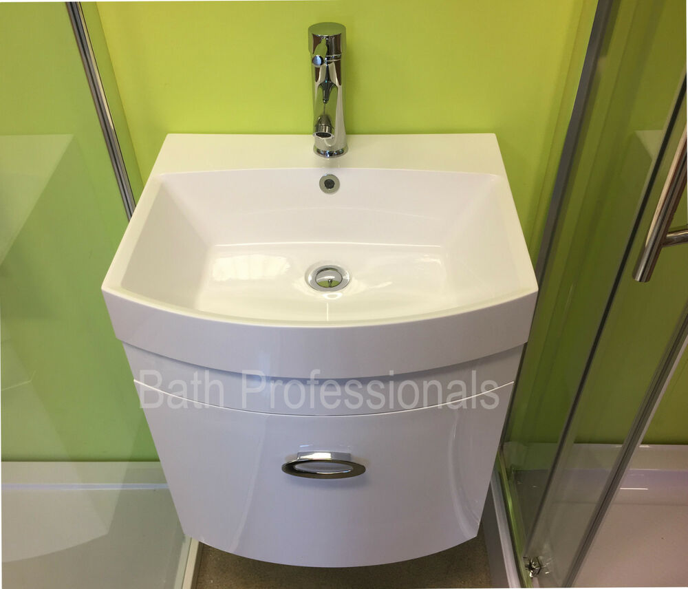500mm Bathroom Sink : ... Bathroom Basin Sink Wall Hung White Corner Cloakroom 500MM eBay