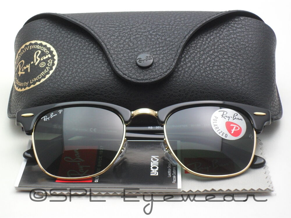 Ray Ban Clubmaster Classic Polarized Green G 15 Lens Black