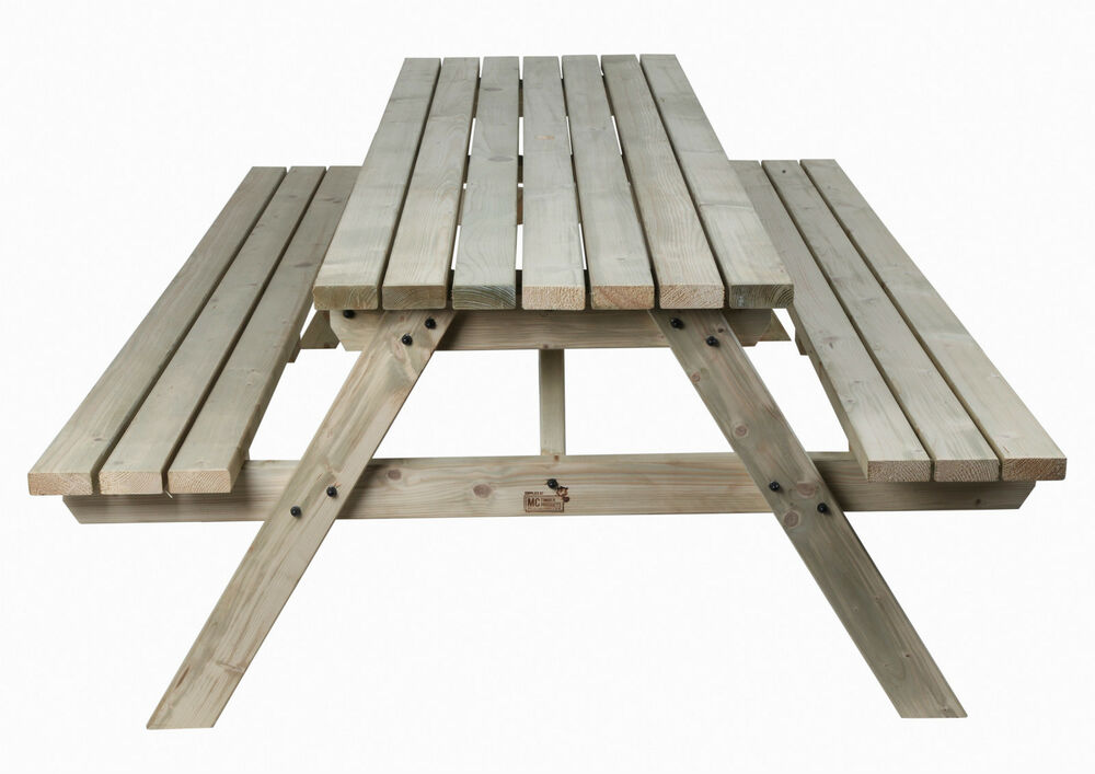 6ft Wooden Timber Picnic Table Bench Hand Made In Uk