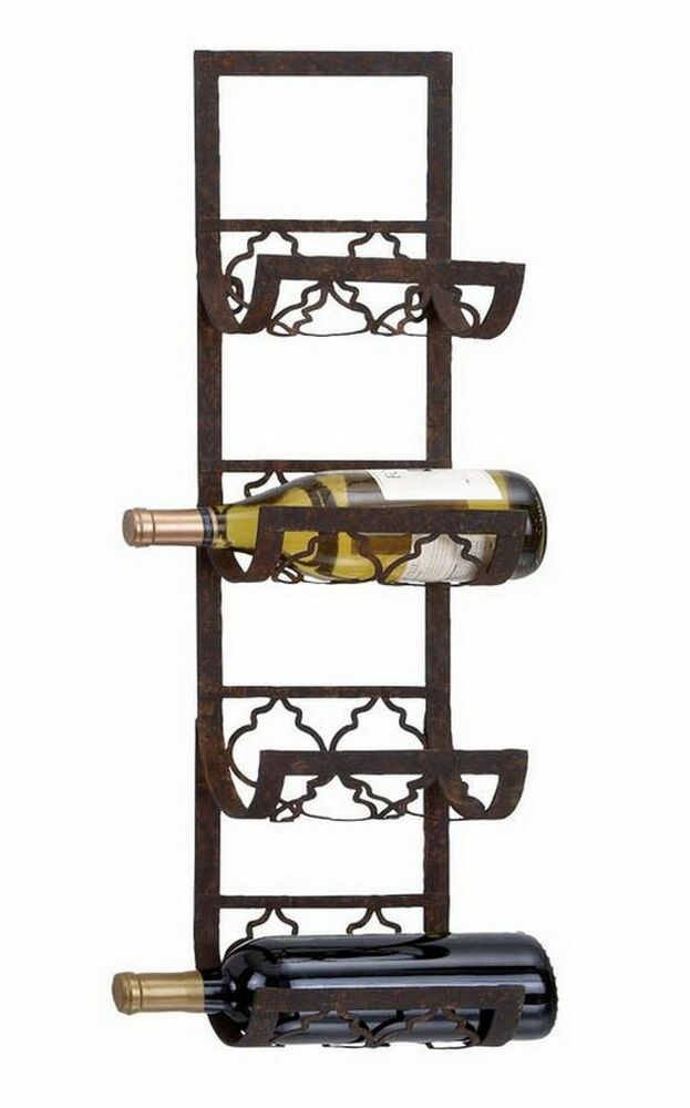 Wall Art Supply Holder : Bottle wall mount wine rack storage holder metal kitchen