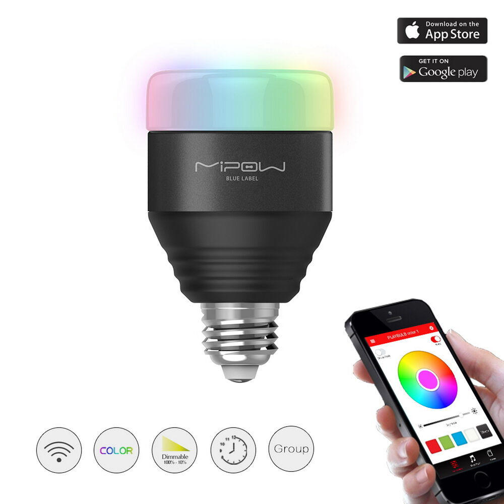 Mipow smart led rgb light bulbs dimmable color changing christmas party lighting ebay Smart light bulbs