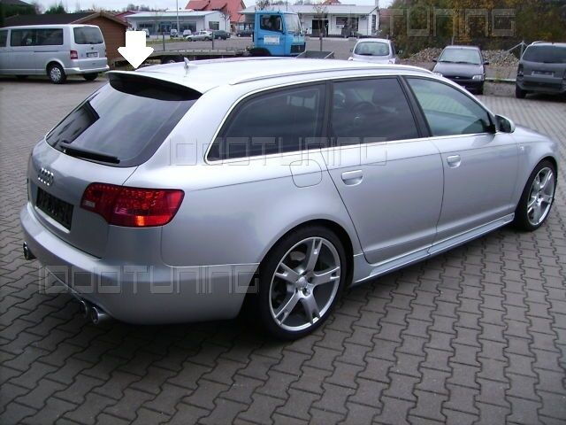 audi a6 c6 4f avant roof spoiler rear spoiler s line roof. Black Bedroom Furniture Sets. Home Design Ideas