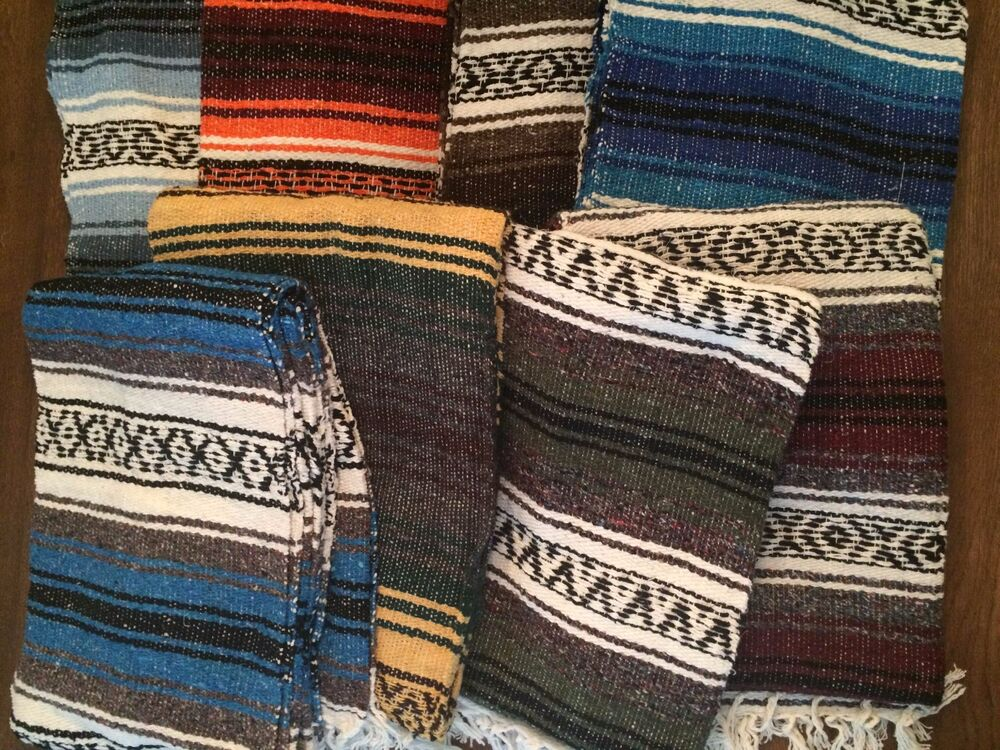 Mexican Falsa Throw Blanket Yoga New Made In