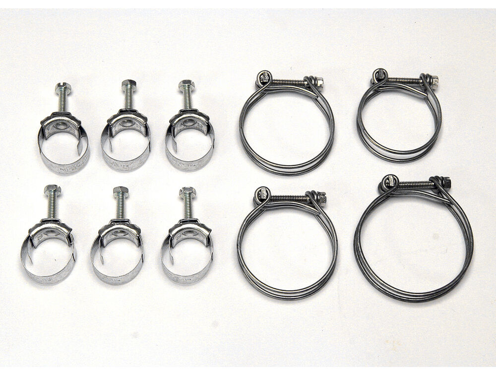 ford mustang radiator heater hose tower clamps 390 428