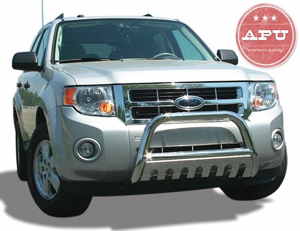 Ford Grill Guard For 85 : Apu  ford escape stainless bull bar bumper grille