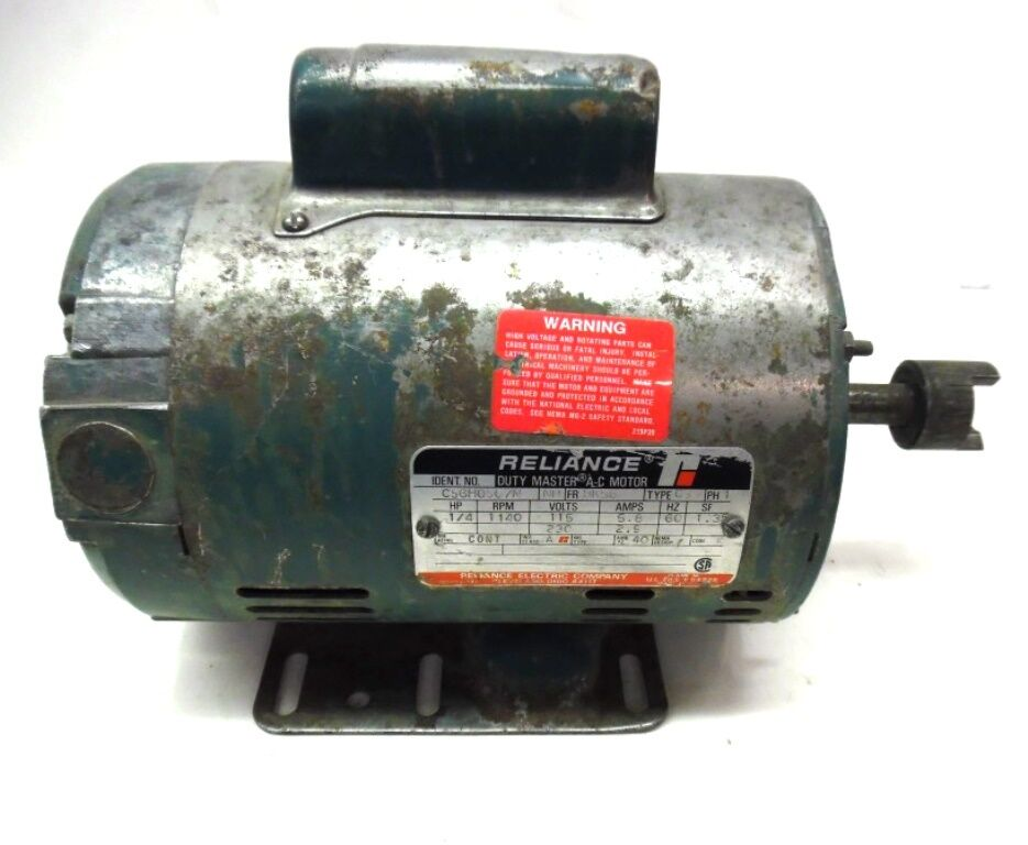 Reliance duty master ac motor c56h0507n 1 4 hp 1140 rpm for Duty master ac motor reliance electric