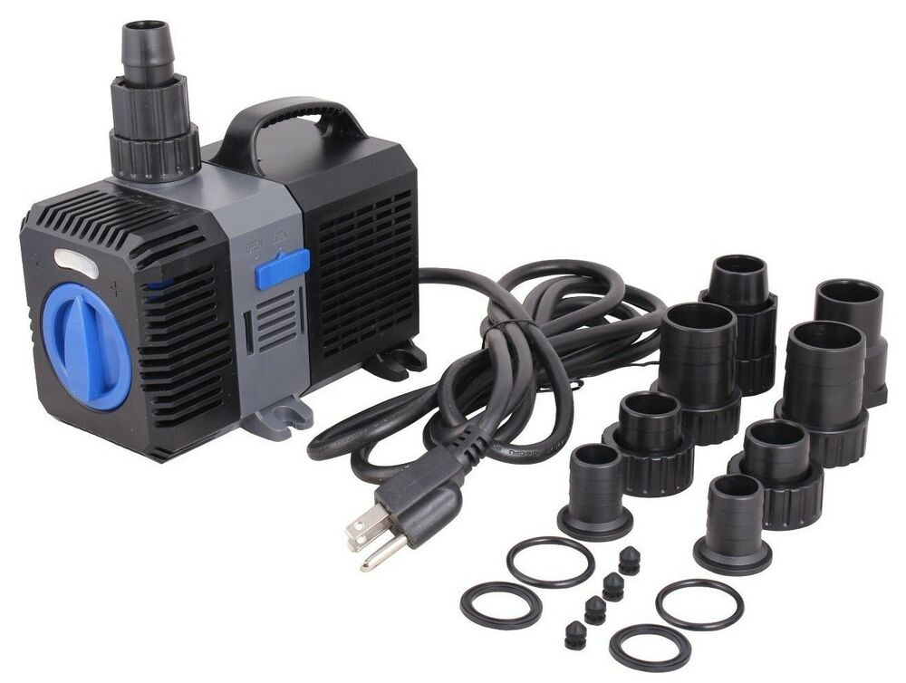 1375 gph adjustable aquarium pond pump submersible inline for Koi pool pumps