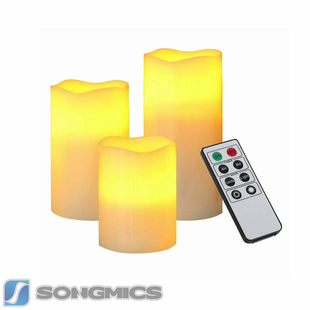 powered flameless led candles lights w 39 remote control uflc75d ebay. Black Bedroom Furniture Sets. Home Design Ideas