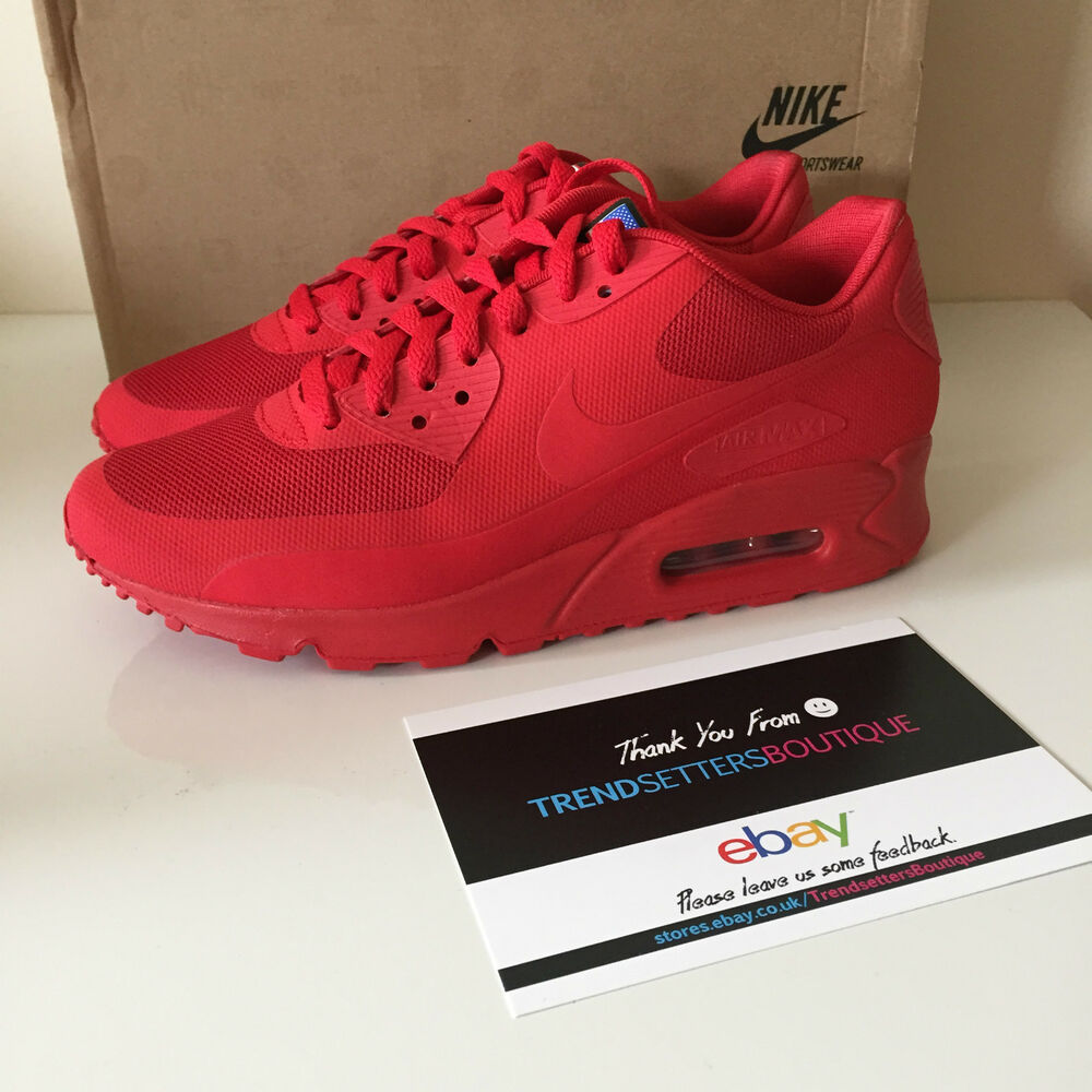 buy popular a1b56 2ec5e Details about NIKE AIR MAX 90 HYPERFUSE USA RED US 6.5 UK 6 Independence  613841-660 2013 day 7