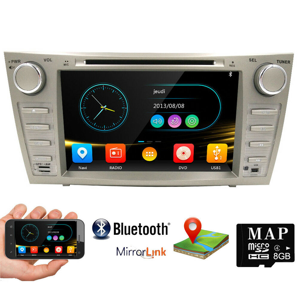car dvd gps radio bluetooth 8 player for toyota camry 2007 2008 2009 20. Black Bedroom Furniture Sets. Home Design Ideas