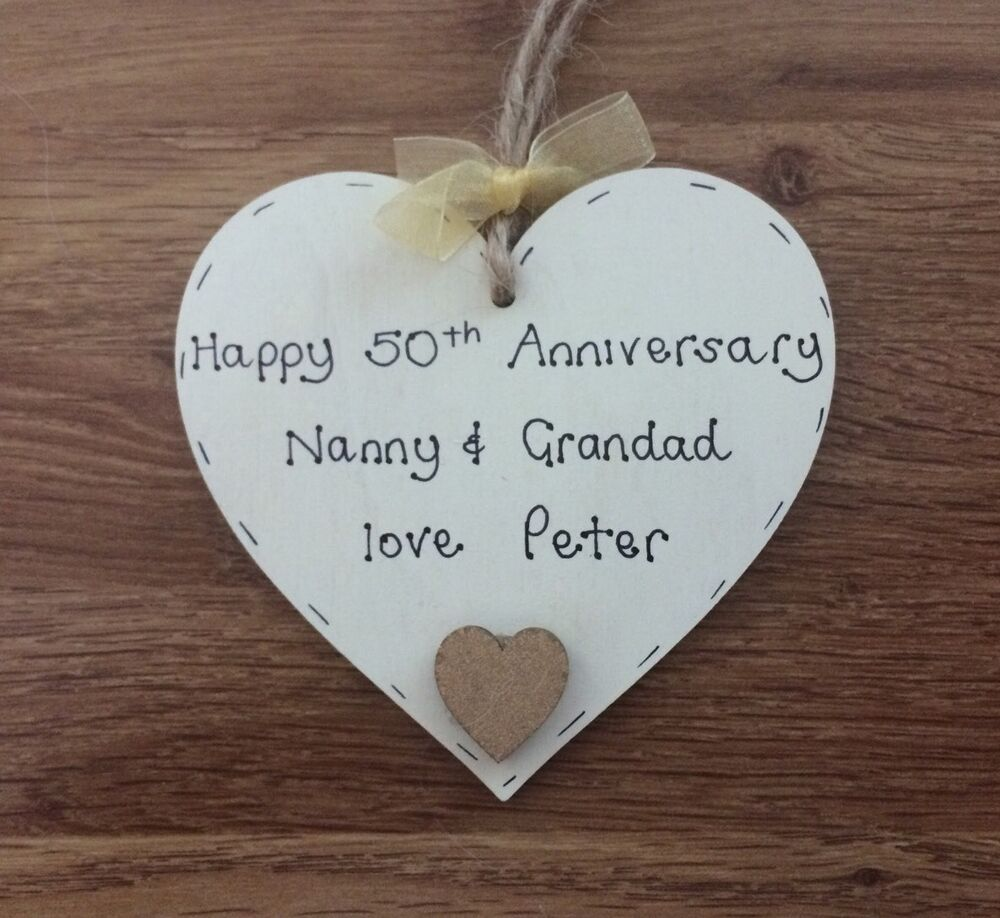 Gifts For Grandparents 50th Wedding Anniversary: Personalised Gift For Grandparents 50th/golden Wedding