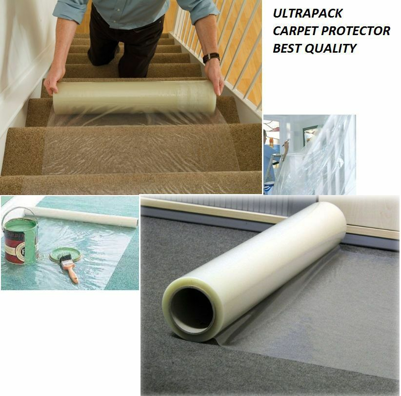 carpet protector heavy duty clear plastic roll self. Black Bedroom Furniture Sets. Home Design Ideas
