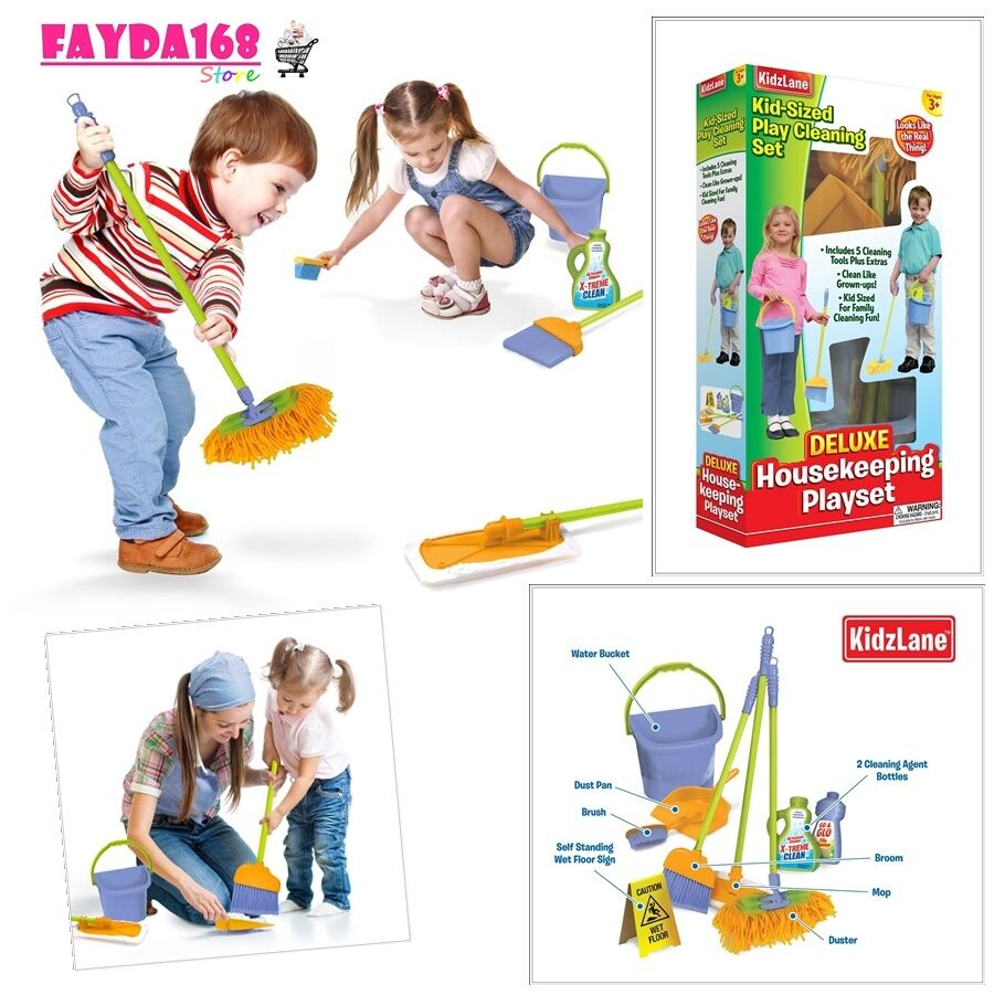 Kids Cleaning Set Toys Development Learning Activity