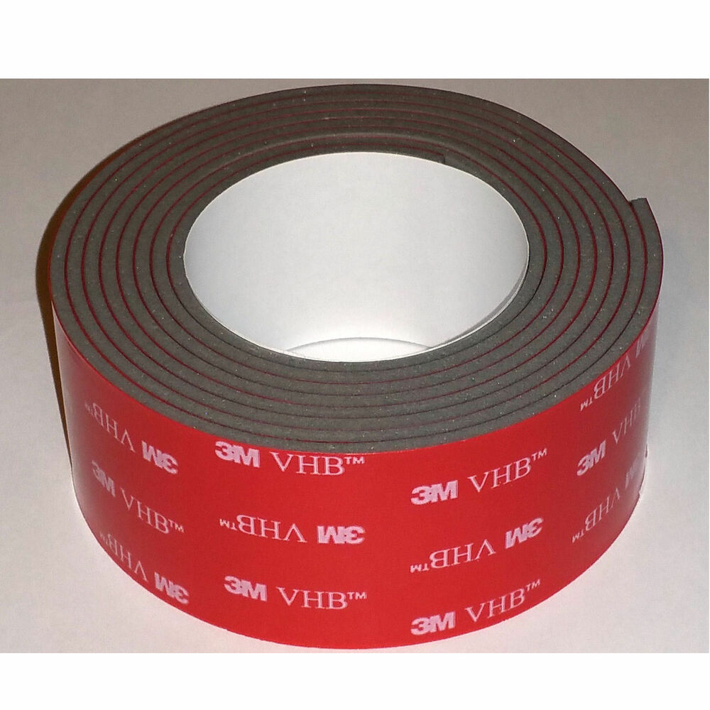 3m 4991 vhb 1 x 4 ft thick double sided tape for gopro mounts usa ebay. Black Bedroom Furniture Sets. Home Design Ideas