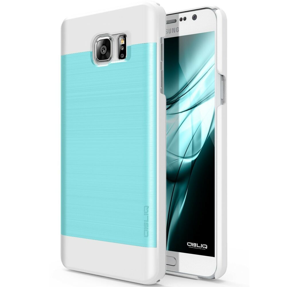 Galaxy Note 5 Case OBLIQ [Slim Meta][Aqua Blue/White] - Thin Slim Fit ...