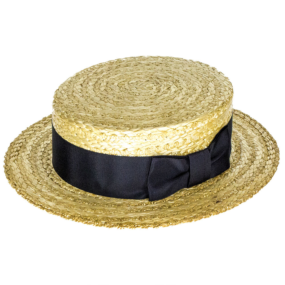 5ec9e09a357f1 Antique Straw Boater Alfred Brooks and Co London England Late 1800s.