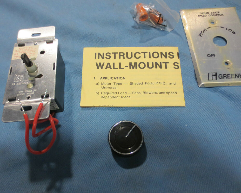 Greenheck solid state motor speed control kbwc 15k new in for Solid state motor speed control