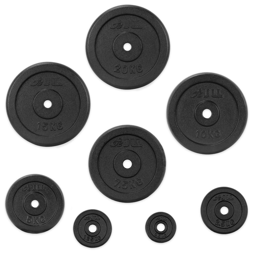"""Jll Dumbbell Set: JLL® Cast Iron 1""""Weight Plates For Dumbbell Weight Lifting"""