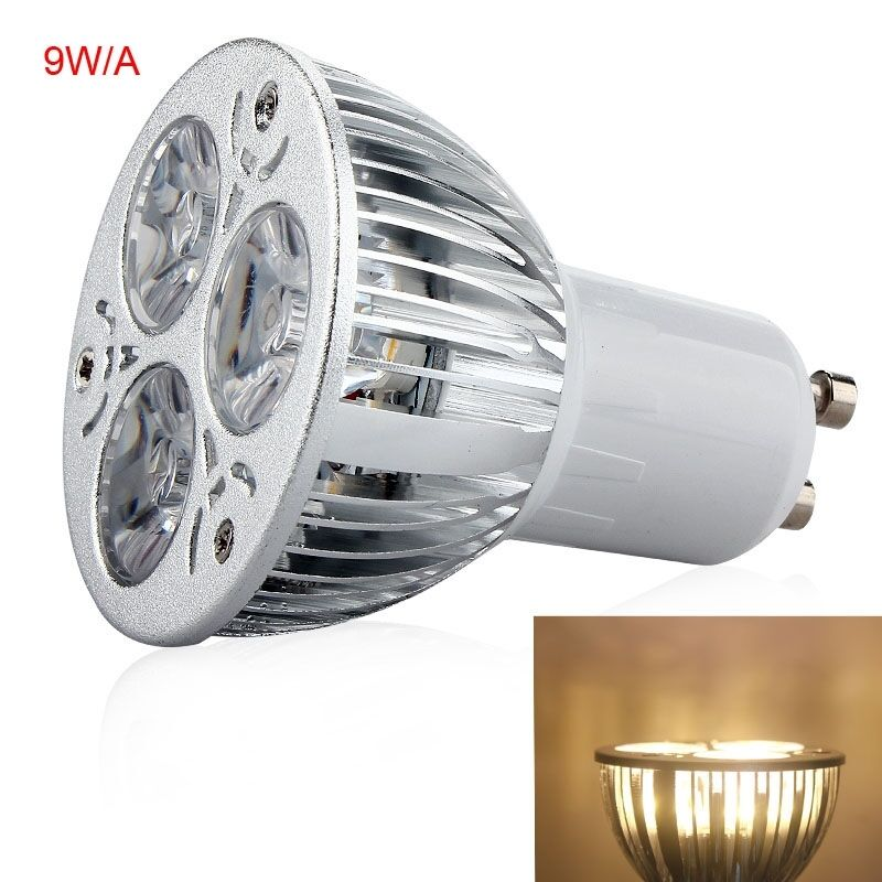 super bright ac220v dimmable gu10 9w 3x3w led lamp spotlight warm white a 66 ebay. Black Bedroom Furniture Sets. Home Design Ideas