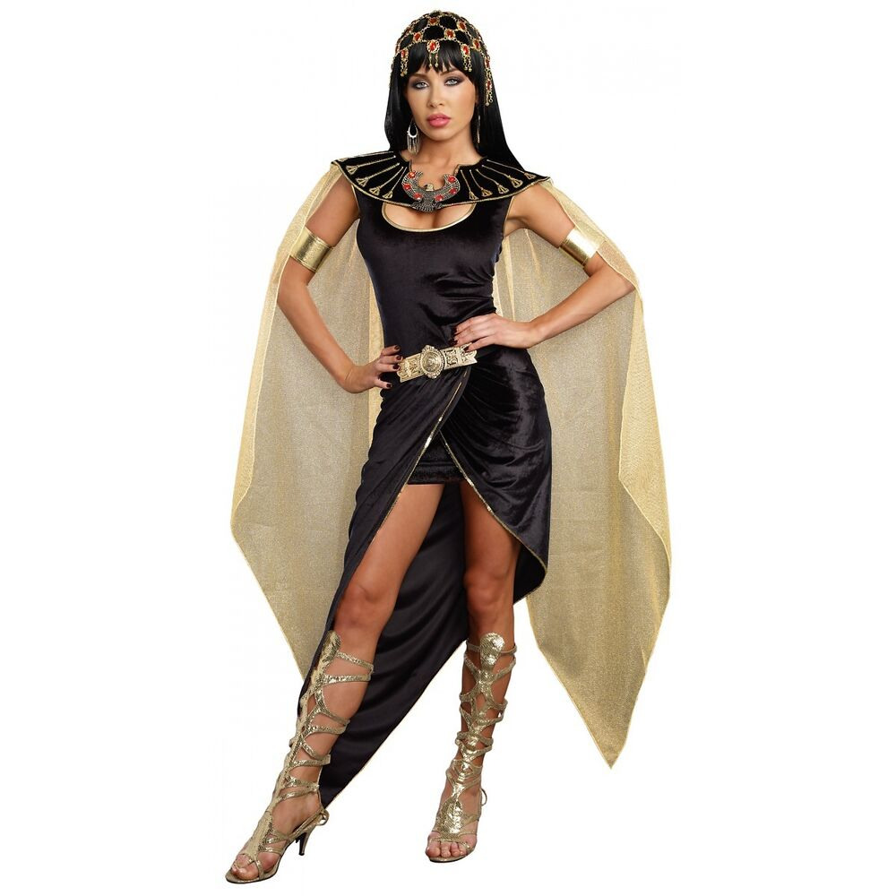 Cleopatra Costume Adult Egyptian Queen Halloween Fancy ...