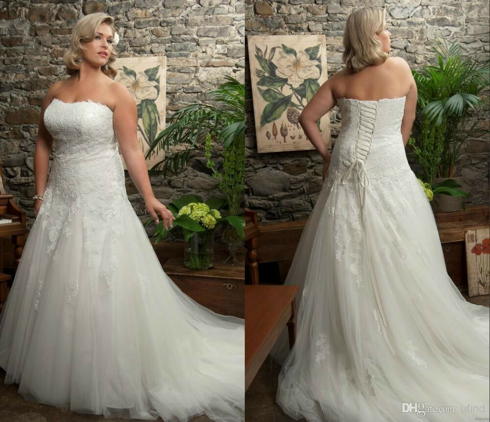 wedding dress women bridal plus size 14 16 18 20 22 24 26 ebay