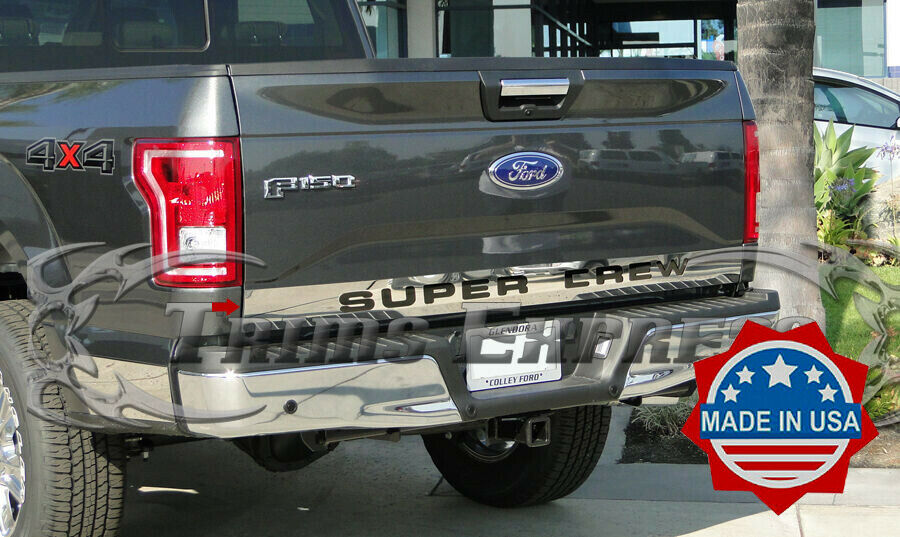 2015 2017 ford f 150 tailgate overlay cover trim molding lower accent supercrew ebay for Ford f 150 exterior accessories