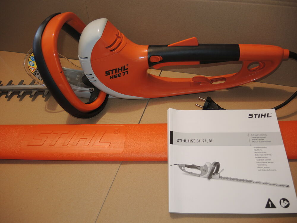 stihl hse 71 heckenschere mit 700 mm messer neu ebay. Black Bedroom Furniture Sets. Home Design Ideas