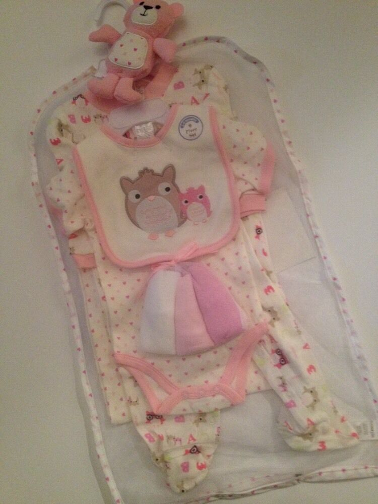 Cutie Pie Baby Girl 9 Piece Layette Gift Set Size 3 6 ...