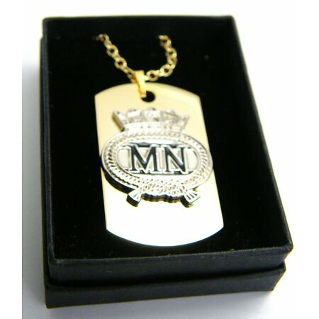 img-THE ROYAL MERCHANT NAVY BADGE DOG TAG PENDANT MILITARY GIFT IN BOX