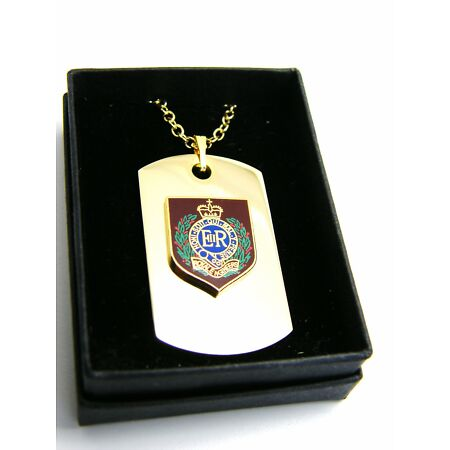 img-THE ROYAL ENGINEER SAPPER PRIVATE BADGE DOG TAG PENDANT MILITARY GIFT IN BOX
