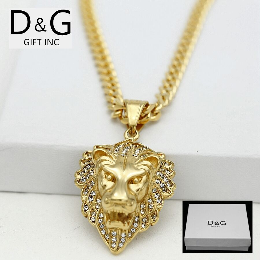 dg s gold stainless steel 20 quot cuban curb necklace