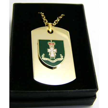 img-THE GREEN HOWARDS BADGE DOG TAG PENDANT MILITARY GIFT IN BOX