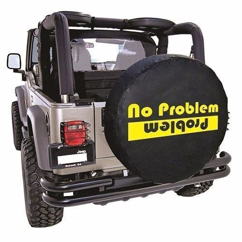 Tire Cover Sticker Decal No Problem 2 Sizes 4 Colors