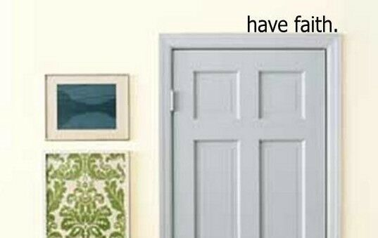 have faith over the door vinyl wall art decal quote words lettering decor ebay. Black Bedroom Furniture Sets. Home Design Ideas