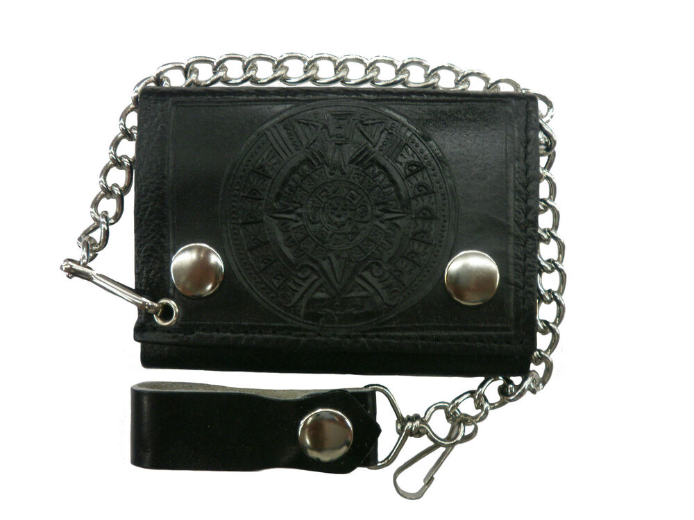 Leather Biker Chain Wallets For Men Mount Mercy University