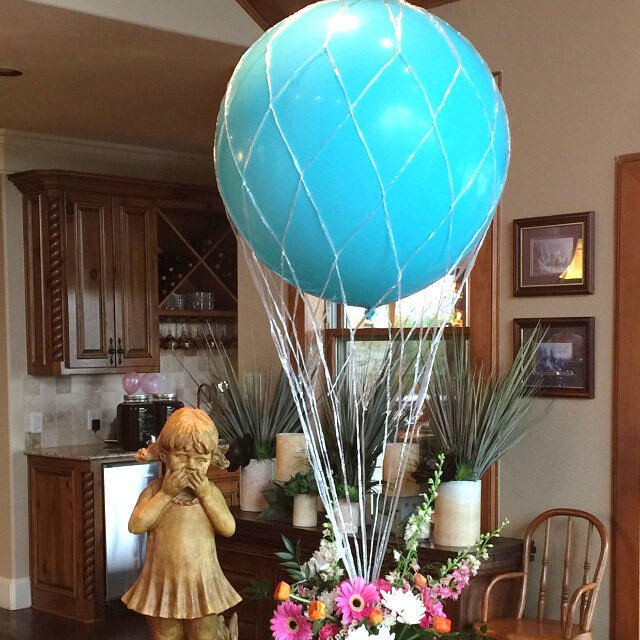 Balloon Centerpiece Net : Inch hot air balloon net use with great