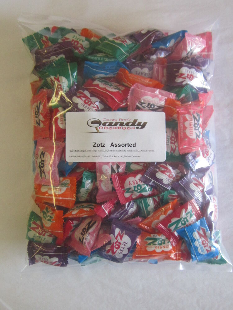 Where To Buy Bulk Candy: Zotz Fizzy Candy 2 Pounds Aprox 170pc Asst 7 Flavors With