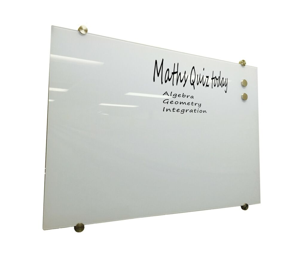 Glass White Board Magnetic White 1200x900mm Ebay