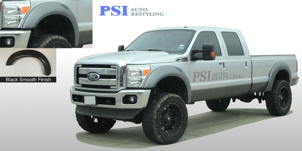 Black Paintable Extension Fender Flares 11 16 Ford F 250